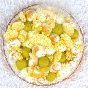 Tarte citron basilic mascarpone par Camille pâtisse !