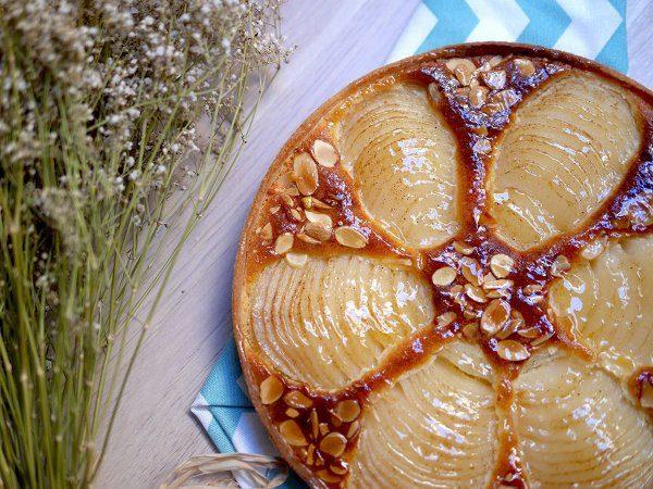 Tarte amandine aux poires par Camille pâtisse !