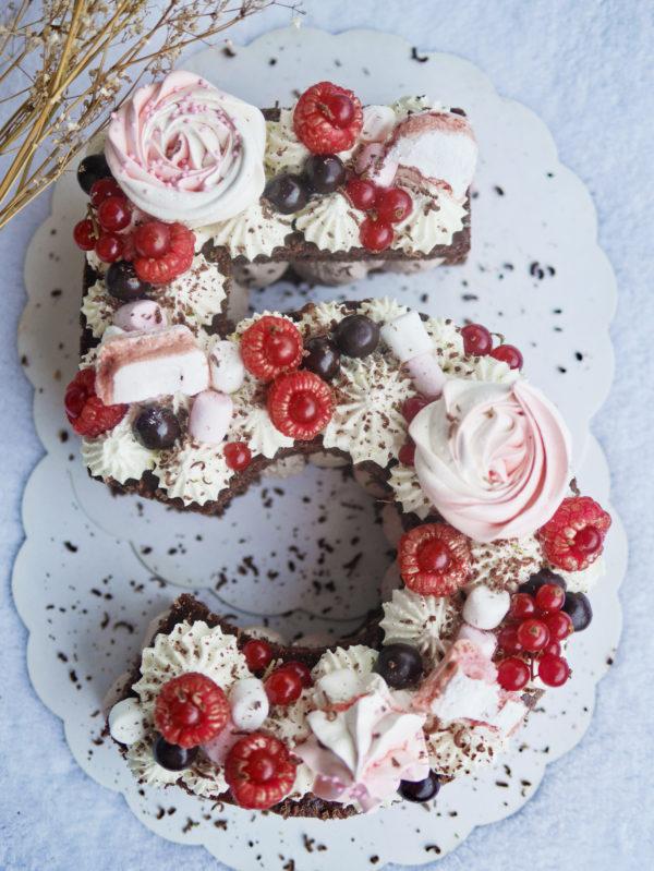 Number cake par Camille pâtisse