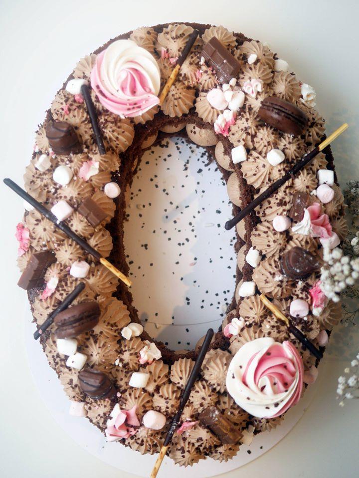 Number cake 100% chocolat