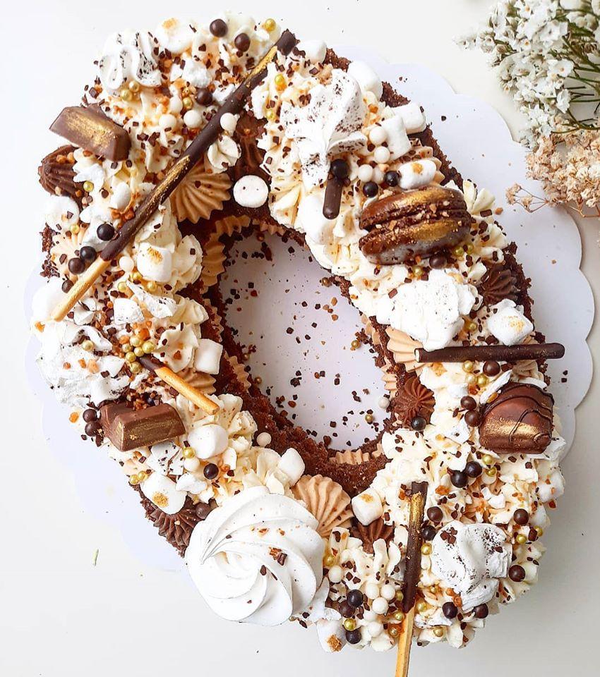 Number cake chocolat praliné