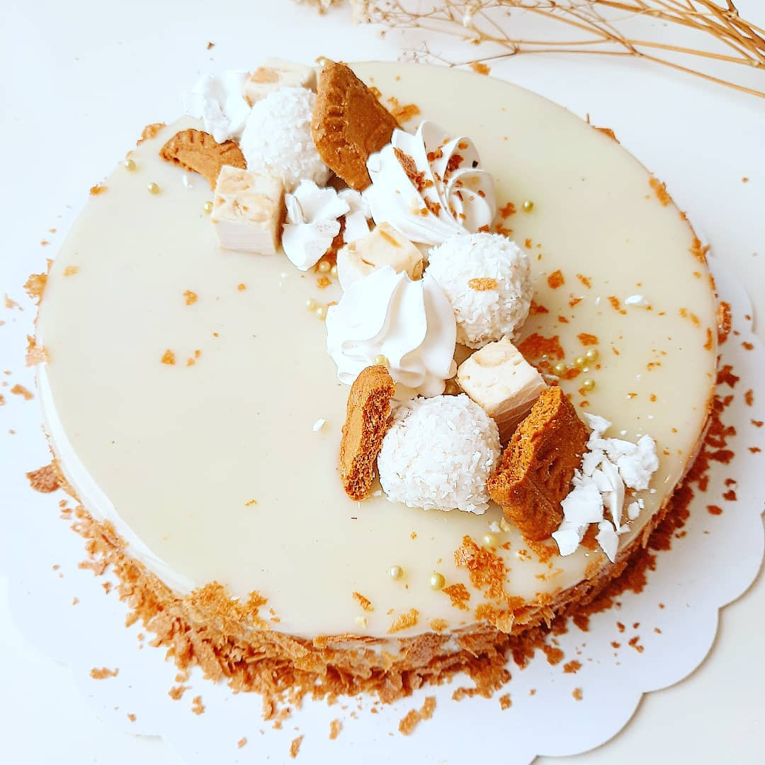 Entremets vanille caramel speculoos