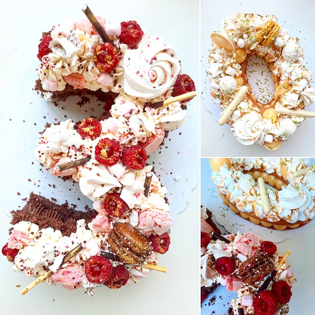 Number cake pommes caramel beurre salé
