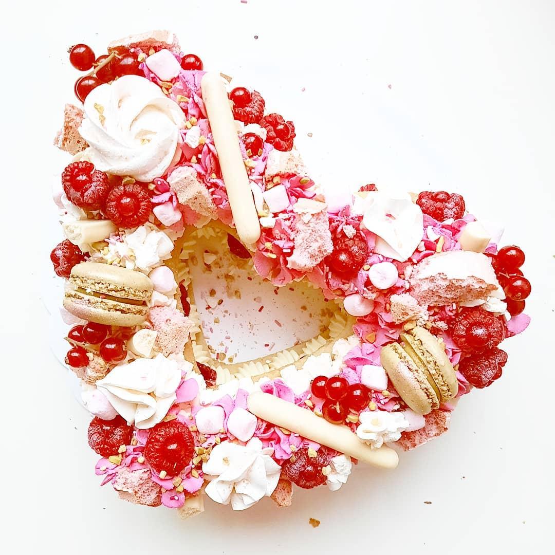 Letter cake chocolat framboises