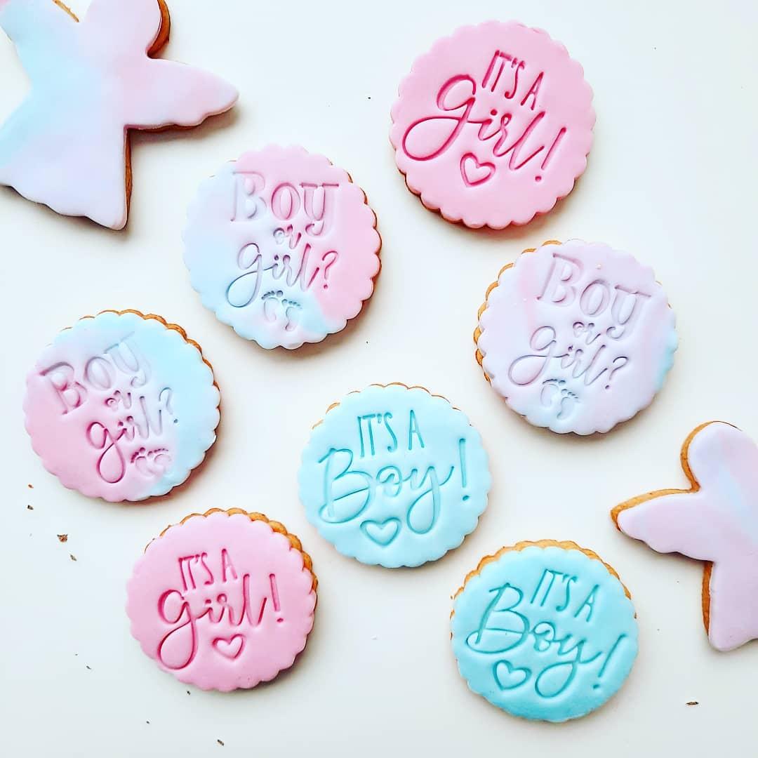 Biscuits décorés baby shower